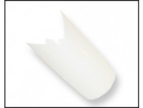 Ozdobné bílé tipy - flame 100 ks
