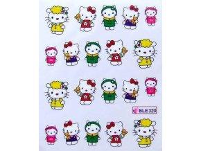 Nálepky na nehty, Hello Kitty 012