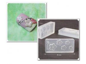 Šablony pro 3D ozdoby, květy