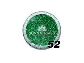 Barevný akryl, glitter zelený