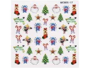 Vánoční nálepky MC17