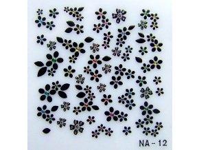 3D nálepky květy NA12B