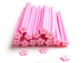 FIMO tyčinka, růžový květ