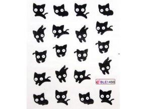 Vodolepky černá kočka