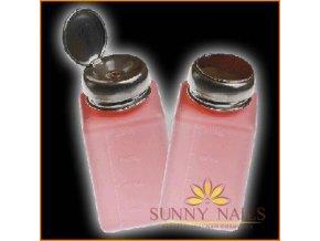 Růžový plastový dávkovač 250ml