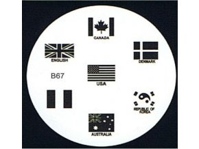 Destička na razítka B67 vlajky