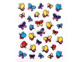 Barevné nálepky, motýl