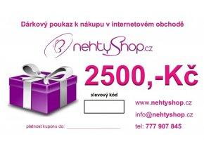 Dárkový poukaz 2500 Kč