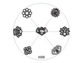 Destička na razítka H09