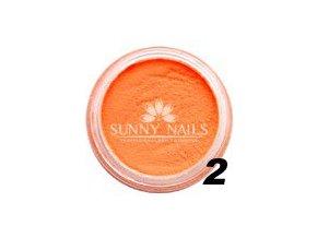 Barevný akryl, neon oranžový