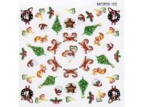 Vánoční nálepky MC02