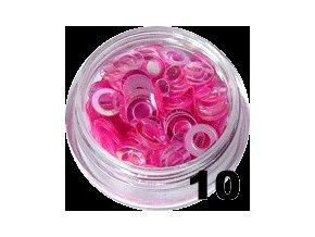 Flitry - tmavě růžové kolečka na nehty