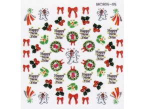 Vánoční nálepky MC05