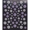 3D bílo-fialové květy