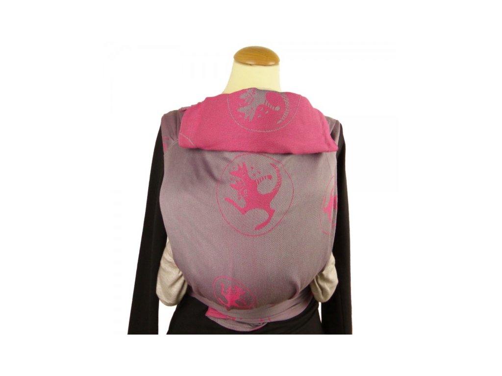 nositko od narozeni didytai kanga funky pink (1)