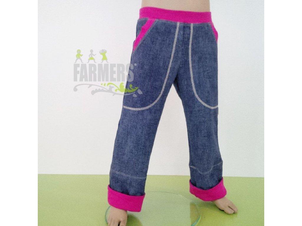 Dětské rostoucí kalhoty JEANS