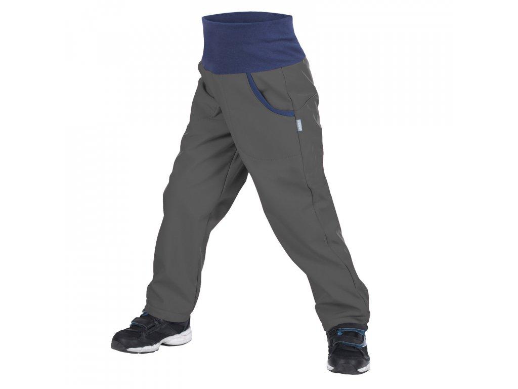 NEW unuo softshellové kalhoty s fleecem