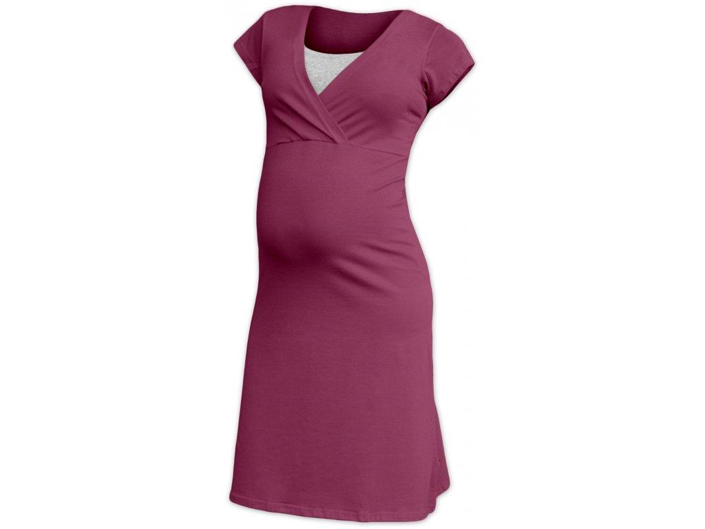 Eva - těhotenská a kojicí noční košile, kr. rukáv
