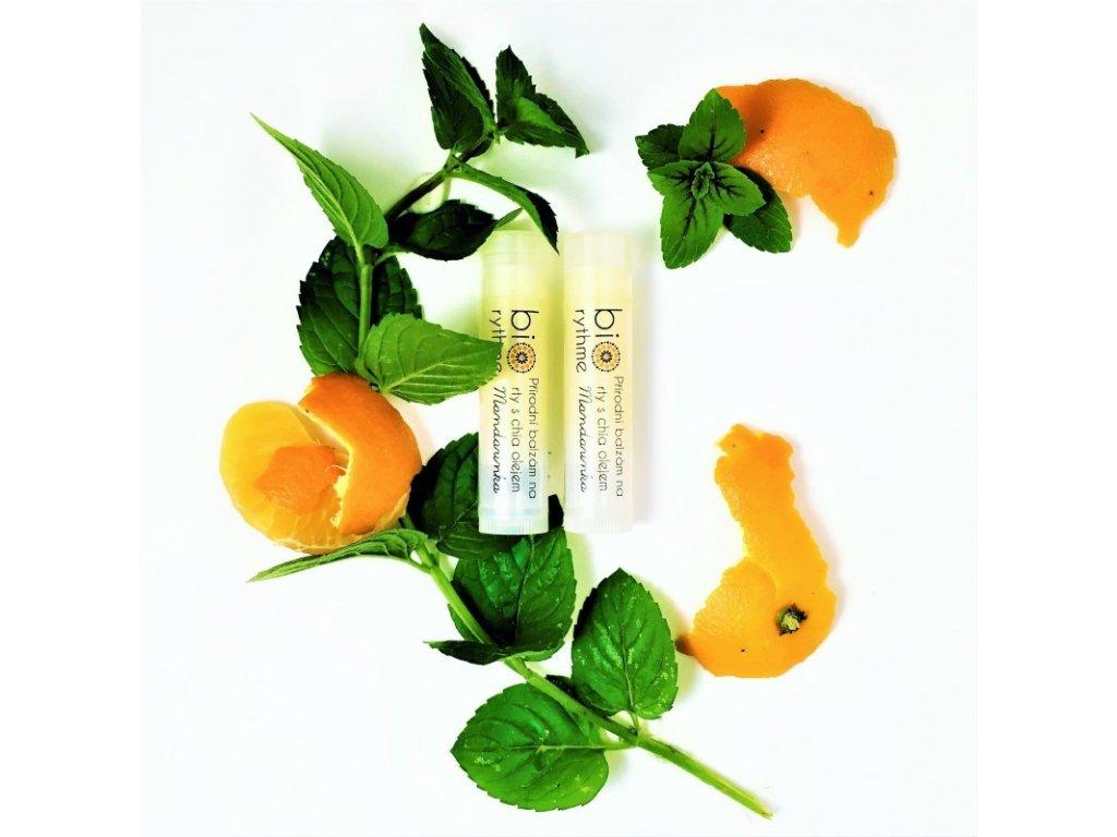 Balzám na rty s chia olejem - Mandarinka