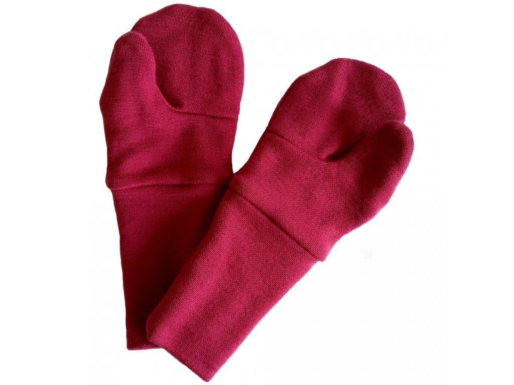 Merino 2vrstvé rukavice palčáky oboustranné Baby Crawler