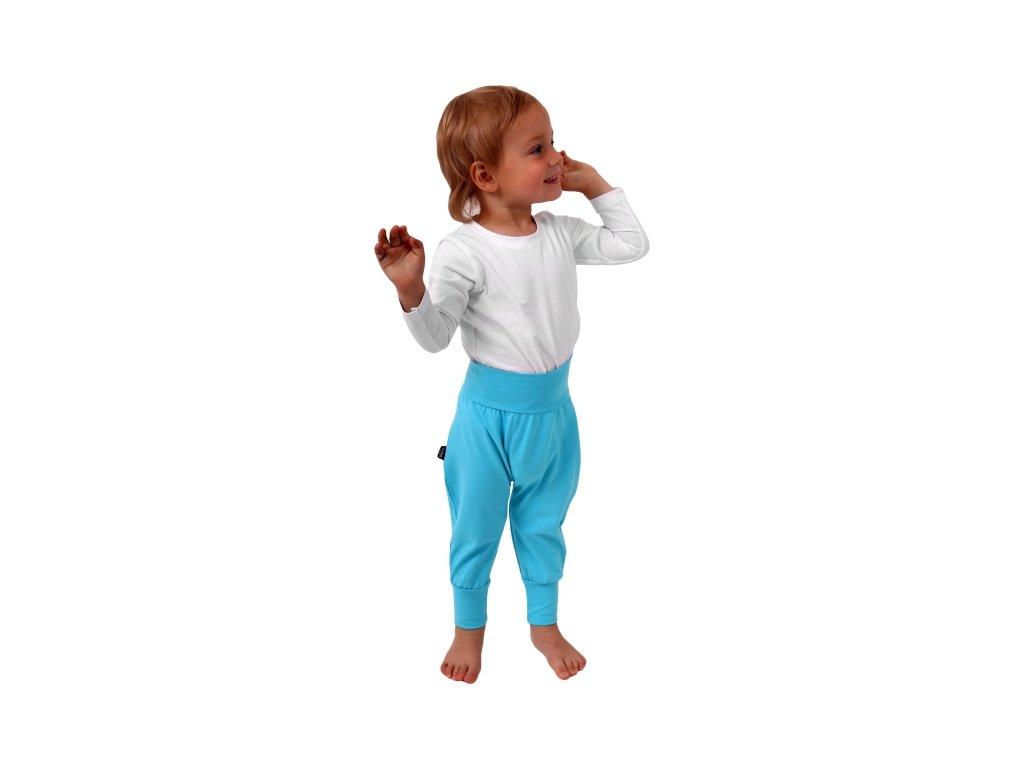 detske kalhoty baggy lehke tyrkysove (1)