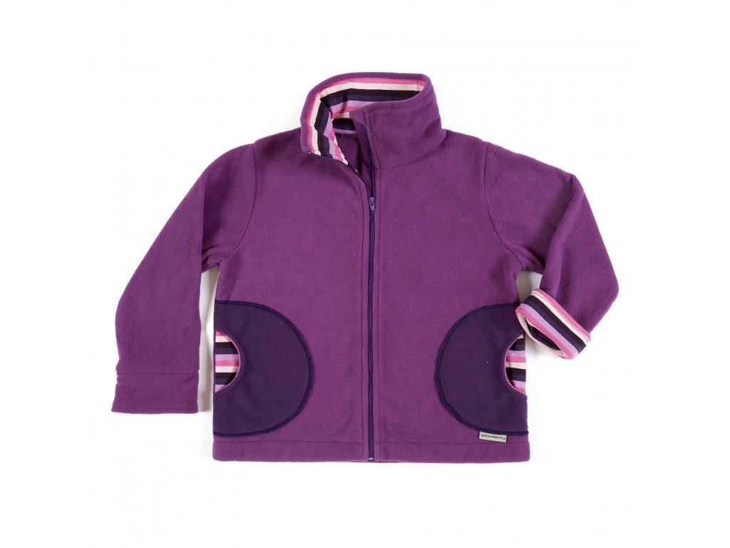 Dětská flísová mikina na zip (doprodej) Veselá nohavice