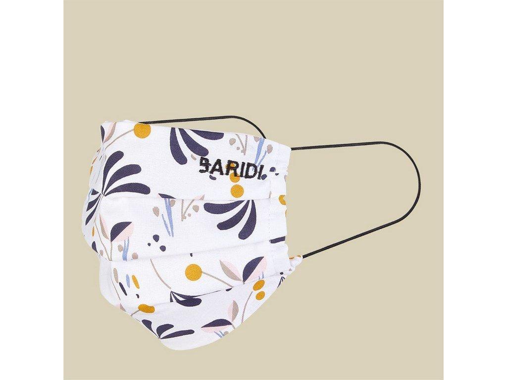 Rouška BARIDI bavlněná dvouvrstvá gumičky