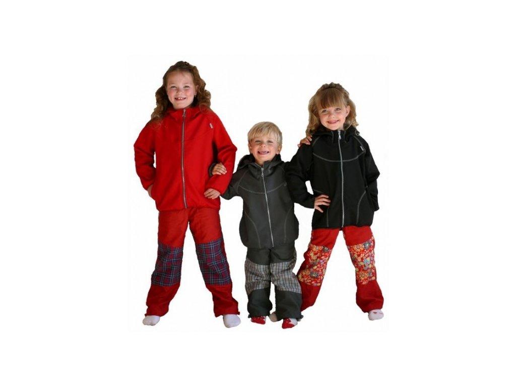Dětská bunda Fantom SOFTSHELL jednobarevná - doprodej