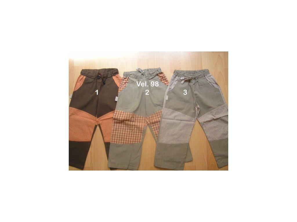Dětské kalhoty Fantom bavlněné kombinované s kostkou - doprodej