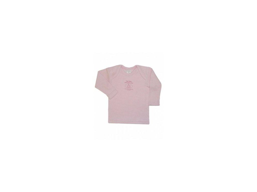 Tričko růžové 100% biobavlna