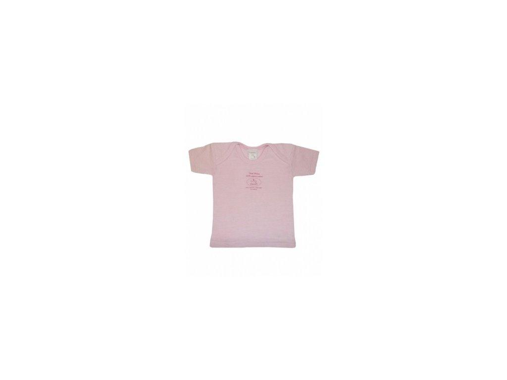 Tričko růžové kr.rukáv 100% biobavlna