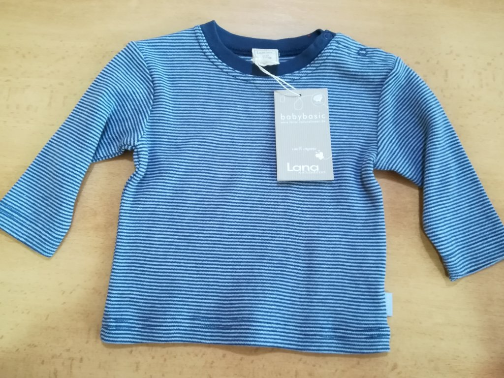 Tričko s dl. rukávem 100% biobavlna - různé barvy