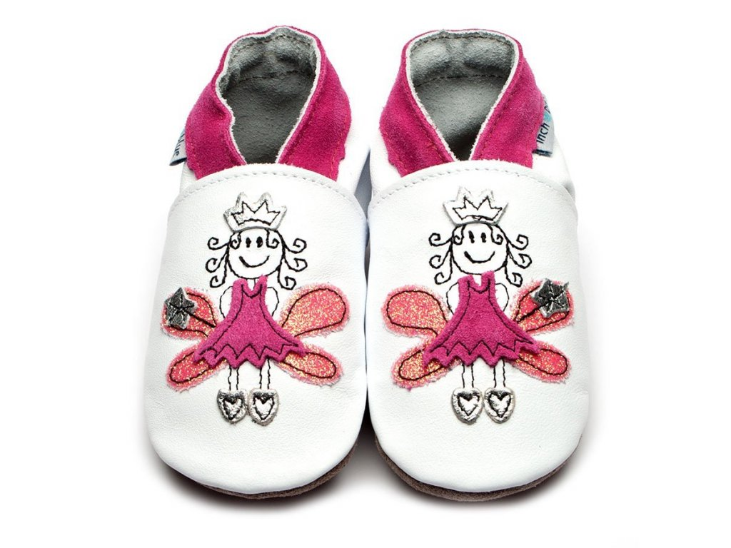 fairy princess white pink inchblue baby shoe[1]