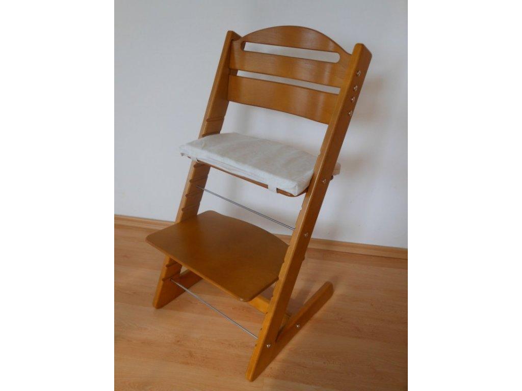 Rostoucí dětská židle Jitro Baby - mořená či barevná