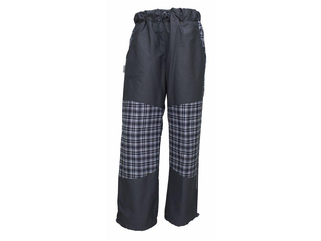 Dětské kalhoty Fantom s kostkou se zátěrem a podšívkou