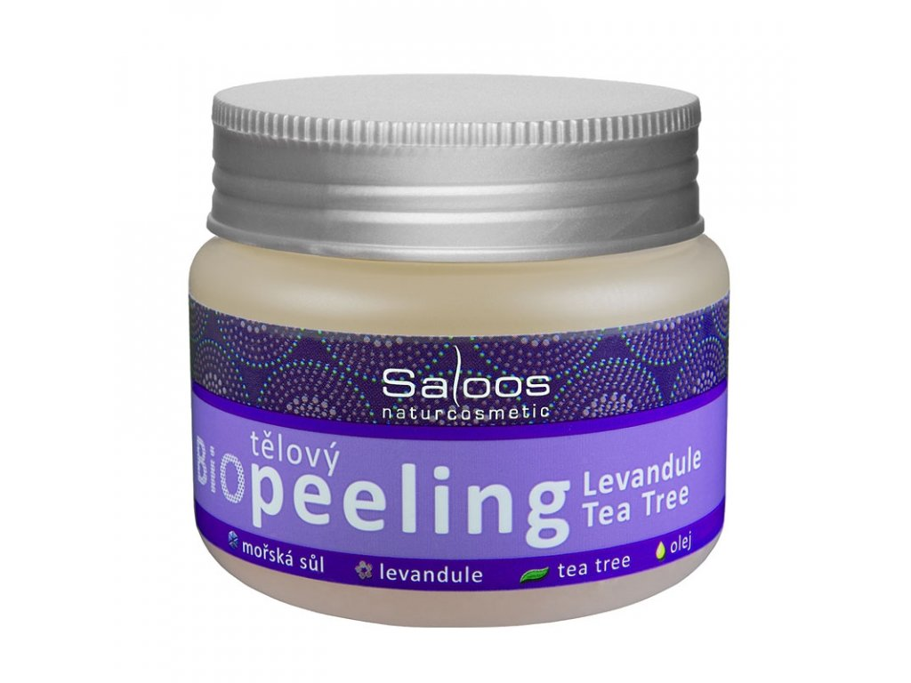 Bio tělový peeling Levandule - Tea tree, 140ml