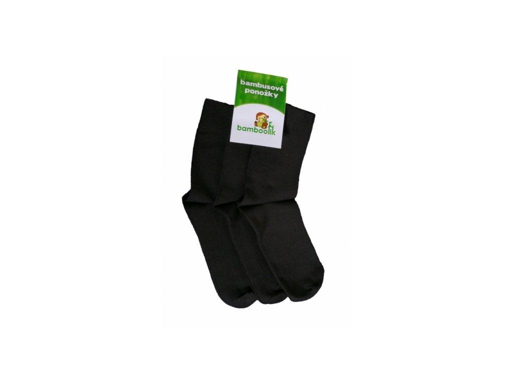 Bambusové černé ponožky pro dospělé - 1 pár