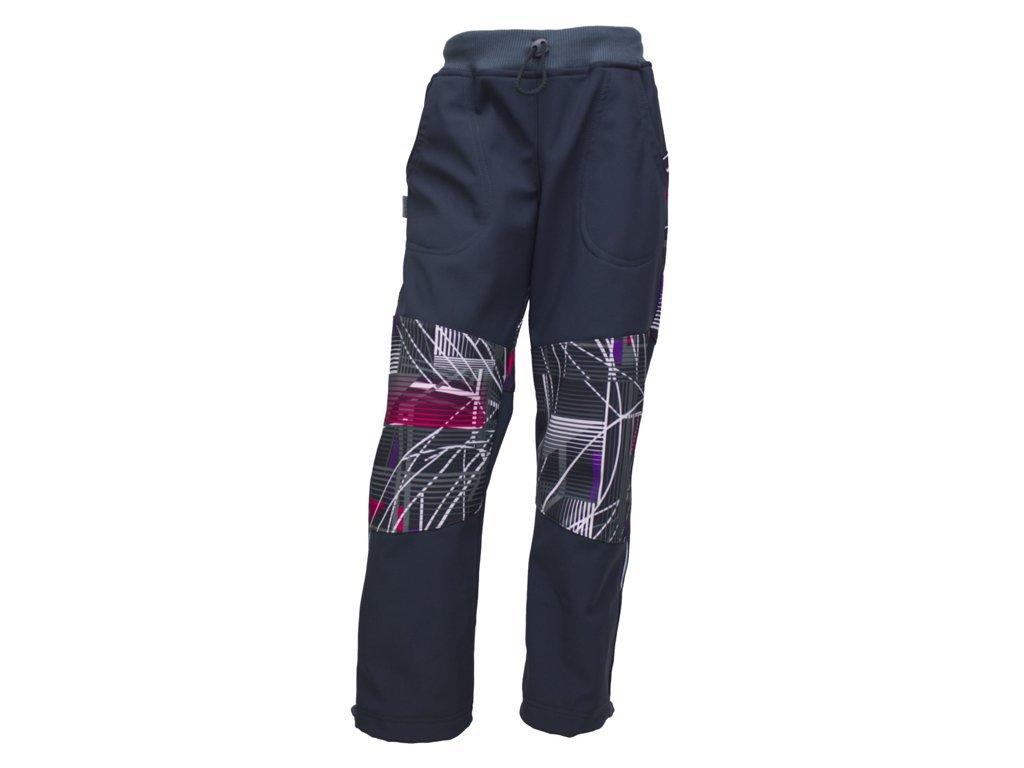 Dětské kalhoty Fantom SOFTSHELL barevný tisk