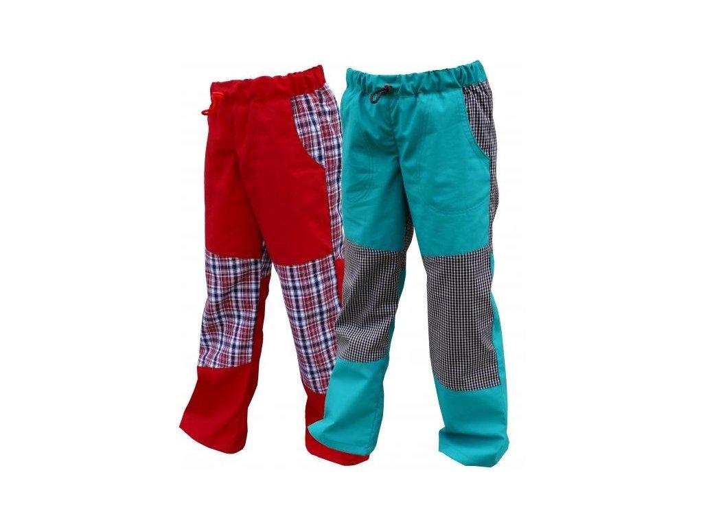Kalhoty Fantom bavlněné letní s kostkou