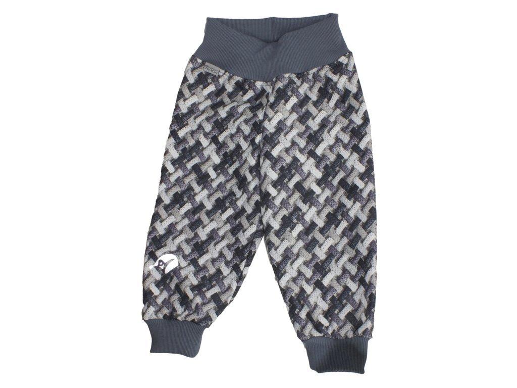 Kojenecké softshellové kalhoty s copánky