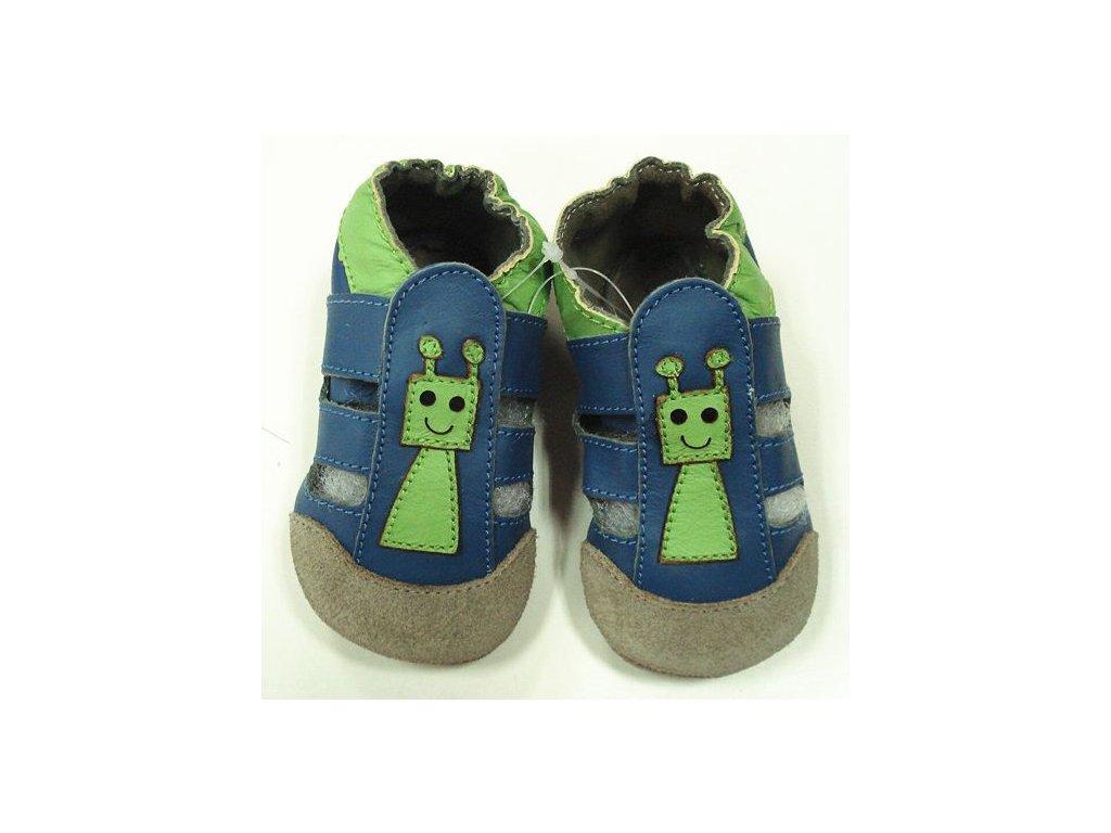 Kožené capáčky - Sandálky Robot