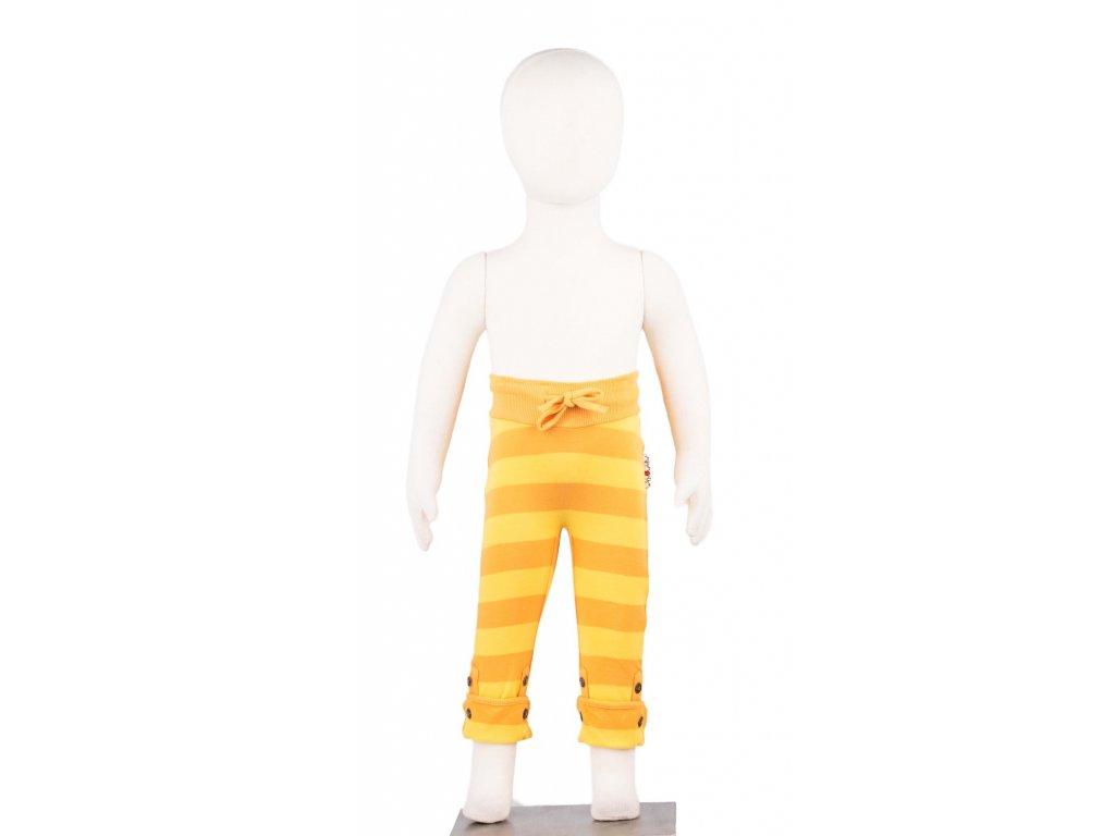 Manymonths knoflík.kalhoty ECO biobavlna