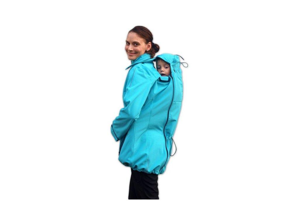 sandra softshellova bunda pro tehotne zeny a nosici maminky tyrkysova[1]