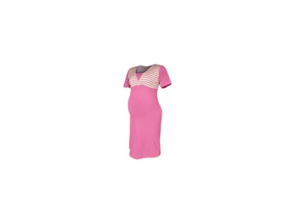 Pruhovaná těhotenská/kojící noční košile