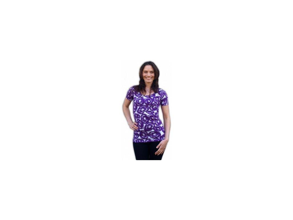 Kateřina - tričko pro snadné kojení, kr. rukáv - tisk