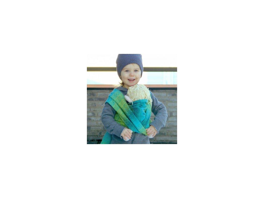 Šátek na panenky DIDYMOS Ada Malachit