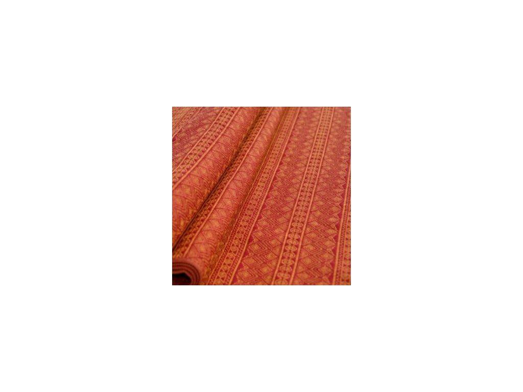 Šátek na panenky DIDYMOS Prima rubín-mandarinka