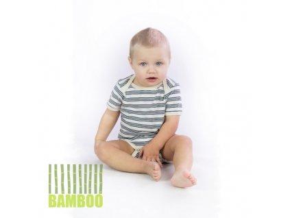 Dětské body kr. rukáv BAMBUS pruhované
