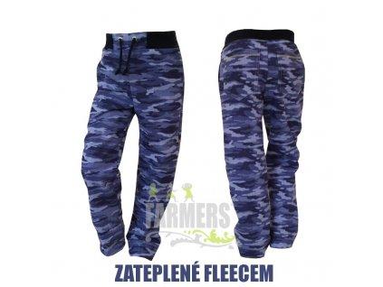 Zateplené dětské kalhoty WOW (zadní kapsy) - fleece