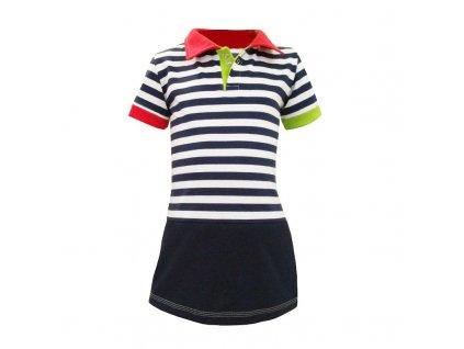 Dívčí šaty s límečkem